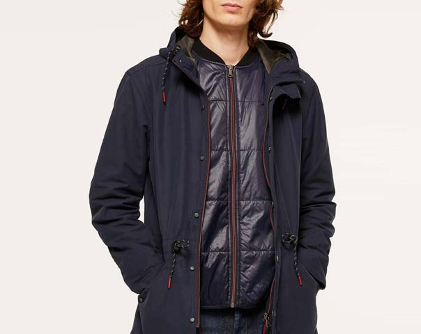Parka with inner vest